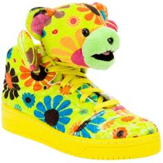 ADIDAS ORIGINALS BY JEREMY SCOTT bear trainers ($280) ❤ liked on Polyvore