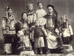 19th century Chinese family portrait