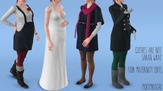 My Sims 3 Blog: Clothes Are Not Saran Wrap - Four Maternity Edits by Pickypikachu