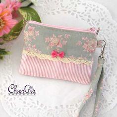 Handmade 3 in 1 tissue coin card pouch zipper pouch coin purse by Chergis on…
