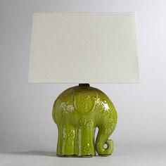 #worldmarket.com          #table                    #Elephant #Ceramic #Table #Lamp #World #Market      Elephant Ceramic Table Lamp | World Market                                    http://www.seapai.com/product.aspx?PID=74082