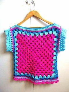 Transcendent Crochet a Solid Granny Square Ideas. Inconceivable Crochet a Solid Granny Square Ideas. Crochet Jacket, Crochet Poncho, Crochet Cardigan, Crochet Granny, Easy Crochet, Knit Crochet, Crochet Toddler, Crochet Girls, Mode Crochet