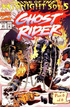 Ghost Rider (Marvel, 1990) #31 opened, but I still have the original bag and poster