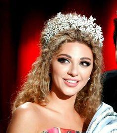 Myriam Fares Wearing Rami Kadi Headpiece
