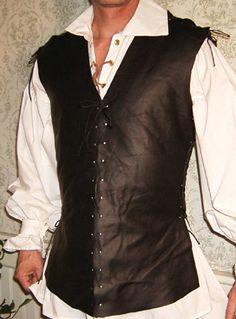 Leather Jerkin - Mens Renaissance