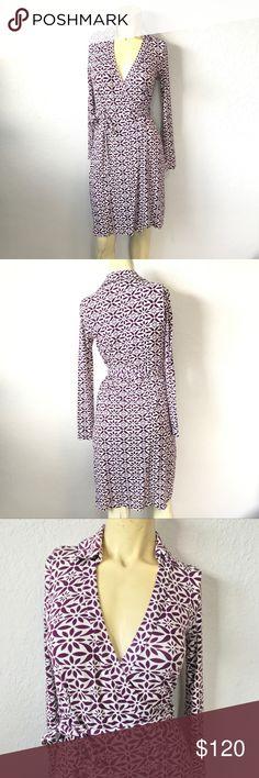 dd151ea7307ac Diane Von Furstenberg New Jeanne Two Wrap Dress DVF Wrap Dress Style: New  Jeanne Two
