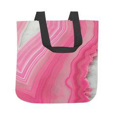 Sweet Pink Agate Tote Bag