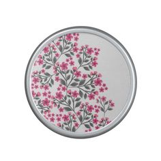 Cute girly watercolors paint floral blossom speaker
