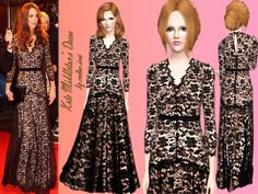 Kate Middleton Dress by Melisa Inci  http://www.thesimsresource.com/downloads/1180496