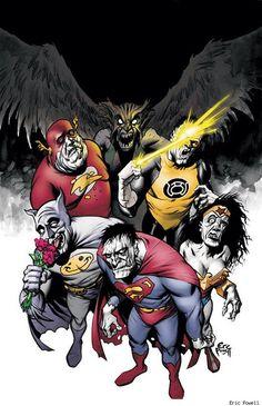 superhero  zombies   of our favorite DC superheroes reimaged as mindless bizarro zombies ...
