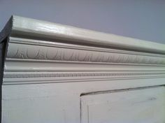 How to make a headboard out of an old door- from the ruffled hammer