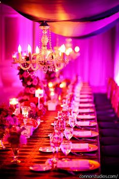 Indian Wedding at Ritz-Carlton by Strawberry Milk Events  #canopy #chandelier #head #table