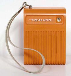 realistic: #orange transistor #radio
