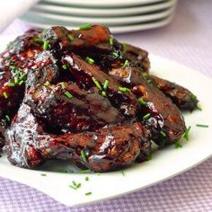 Honey Blueberry Barbecue Wings are some of the best sticky BBQ wings you will ever try with the unique flavor of our Blueberry Barbeque Sauce.