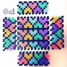 Box perler beads - P Hama Beads 3d, Pixel Beads, Diy Perler Beads, Perler Bead Art, Melty Bead Patterns, Pearler Bead Patterns, Perler Patterns, Beading Patterns, Beading Tutorials