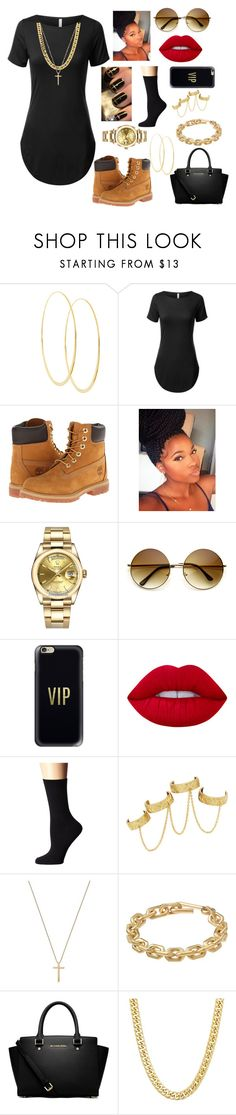 """""""Cute Asf💁😝"""" by kelvionne ❤ liked on Polyvore featuring Lana, Timberland, Rolex, ZeroUV, Monday, Casetify, Lime Crime, Lauren Ralph Lauren, House of Harlow 1960 and Gucci"""