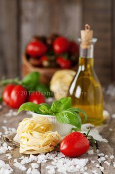 Italian pasta  ,  Italian pasta with vegetable and oil, selective focus  by Oxana Denezhkina on 500px