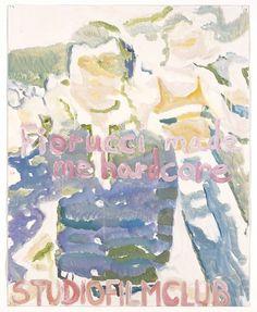 """FIORUCCI MADE ME HARDCORE""  2005 [""Fiorucci made me hardcore"" GB, 1999 R / D: Mark Leckey] Sammlung Ringier oil on paper 73 x 58 cm / 29 x 23"" PETER DOIG."