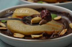 Peras de Rincón de Soto asadas con crema de chocolate sorpresa #GlutenFree #SinGluten #SinLactosa #Veggie http://enmilbatallas.com/2013/10/24/peras-de-rincon-de-soto-asadas-con-crema-de-chocolate-sorpresa/