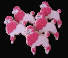 Poodle decorated sugar cookie