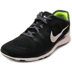 Nike Free 5.0 Tr Fit 5 Women Trail Running Shoes ($100) ❤ liked on Polyvore featuring shoes, athletic shoes, black, nike athletic shoes, nike, nike footwear, kohl shoes and black shoes