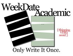 """Cool new product from WeekDate.... Academic Planners...   """"OMG Week Date is the best! ... I take out my WeekDate calendar, and people immediately crowd around like I just started performing magic tricks like a David Blaine wannabe."""""""