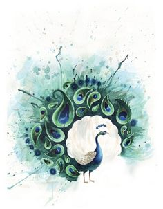 Tattoos are all about catching the eye of people around you. Peacock tattoos are just perfect for that. Here are some popular peacock tattoo designs till date. Pfau Tattoo, I Tattoo, Tattoo Wave, Watercolor Peacock Tattoo, Peacock Painting, Peacock Canvas, Peacock Artwork, Painting Art, Watercolor Paper