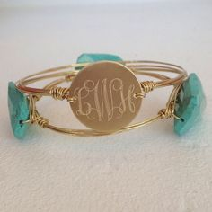 Monogram Wire Wrapped Bangle
