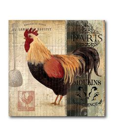 Take a look at this Rooster Stripe II Canvas Wall Art by COURTSIDE MARKET on #zulily today!
