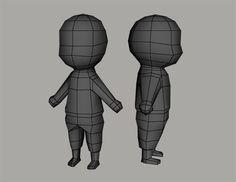 Low poly human character base