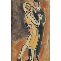 Le Tango by Louis Valtat (1869-1952), French artist associated with the Fauves (mutual art)