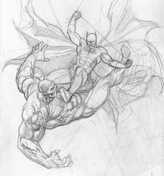 "10k Likes, 50 Comments - Frank Cho (@frankchoartist) on Instagram: ""Batman Vs Swamp Thing, work in progress. Decided to work on this again with fresh eyes, after…"""