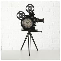 Camera de filmat vintage cu ceas H52 Clock, Form, Wall, Vintage, Material, Gifts, Home Decor, Products, Movie Camera