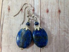 Handcrafted Blue Sodalite Stone Earrings by TimelessTreasuresbyM on Etsy