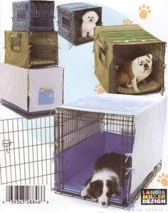 Simplicity 4713 Pet Crate Cover Dog Cat Bed Mat PATTERN Sew