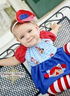 Raggedy Ann apron dres.... soooo adorable!