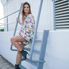 Fresh and Playful. @stam_tsimtsili in @karavanclothing dress and @envieshoes booties. Style @spirossavvinos  Mua @roulamarinopoulou  Shot…