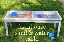 Bumble & Bean: DIY Farmhouse Sand and Water Table