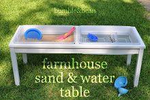 Bumble & Bean: DIY Farmhouse Sand and Water Table