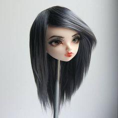 Minifee fairyland mnf wig grey gray no bang handmade hand dyed