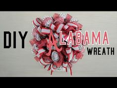 I do mine differently but this is a good DIY. Making an Alabama Football Wreath with Deco Mesh Deco Mesh Ribbon, Diy Ribbon, Deco Mesh Wreaths, Ribbon Wreaths, Door Wreaths, Alabama Football Wreath, Alabama Wreaths, Alabama Crafts, Alabama Decor
