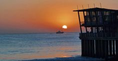 Sunset #Cocktails at #moyo uShaka Pier Bar, #Durban #SouthAfrica