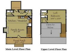 Floor plans for cabins with photos