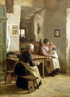 Mother Love. Walter Langley (1852 – 1922, English)