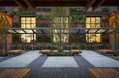 Slabtown Marketplace / bench and paving details :: lango hansen landscape architects
