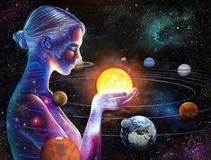 Full Square/Round Mosaic Diy Diamond Embroidery Planet Girl Diamond Painting Universe Out Space C Aquarius, Gemini, Cool Art Drawings, Pencil Drawings, Pencil Art, Neal Art, How The Universe Works, Galaxy Painting, Diy Painting