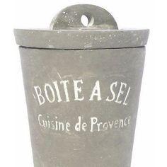 Small Stone Cement Salt Jar