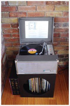 record player in the play room
