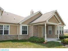 #NewestCondos #Columbus Hard to find 3 bedroom, 2.5 bath ranch condo! Solid surface counter, hardwood floors & huge pantry in kitchen.White cabinets  Vaulted great room w/ gas log fireplace, neutral walls & flooring. Sunroom full of windows! King sized master bedroom w/ private bath closet. Ceramic tile in foyer & sunroom. Great location w/ beautiful views overlooking trees from front porch/patio & sunroom. 2 car attached garage w/ pull down attic storage. 1st floor laundry.
