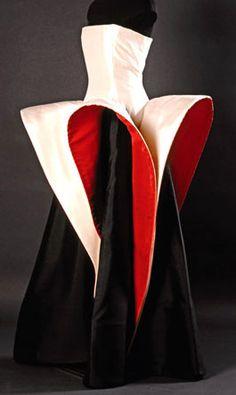 Roberto Capucci - Haute Couture - Robe de Soirée 'Sculpture' - Godets